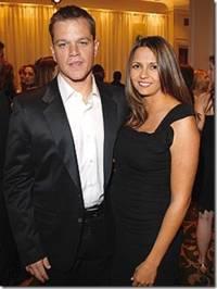 Мэтт Дэймон и его жена Лусиана