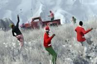 Герои GTA V сменили ружья на снежки