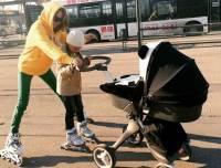 МакSим приучает дочь к активному отдыху