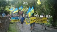 Жители Львова вышли на митинг, требуя автономии для Галичины