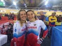 Войнова и Шмелева завоевали золото в командном спринте на ЧЕ по велотреку в Берлине