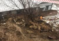 На камчатский краевой музей сошел оползень