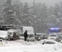 В Словакии из-за гололеда попали в ДТП сразу 40 машин