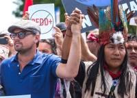 Среди участников марша против экологической политики Трампа замечен Ди Каприо