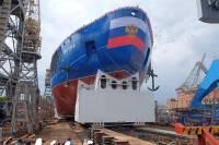 В Петербурге спущен на воду мощнейший ледокол в мире