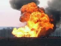 Под Винницей, где горит военный склад, продолжаются одиночные взрывы