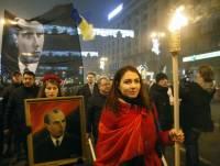 Киевские националисты проводят шествие в честь дня рождения Бандеры