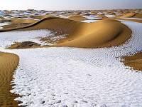 В пустыне Сахара выпал снег второй год подряд