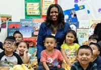 Мишель Обама посетила центр для детей из трущоб Лос-Анджелеса