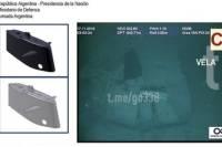 Минобороны Аргентины показало фото затонувшей подлодки