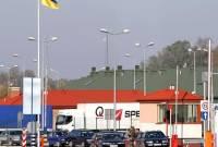 Львовские митингующие блокировали движение на границе с Польшей
