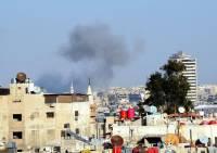 В центре Дамаска проходит массовая акция в поддержку Асада и армии