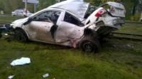Под Оренбургом 4 человека погибли при столкновении иномарок