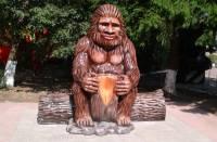 В Новгородской области появился памятник снежному человеку