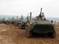 В Абхазии БТР с российскими военными упал в горное ущелье