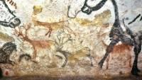 Древнейшие наскальные изображения зверолюдей найдены в Индонезии