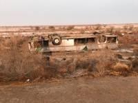 В Казахстане восемь нефтяников погибли в перевернувшемся автобусе
