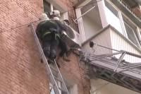 Саратовская старушка, вывалившись из окна 9 этажа, висела на кондиционере до прибытия МЧС