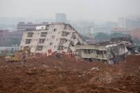 В Китае 11 человек погибли в результате оползня, более 30 пропали без вести