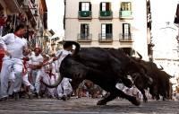 В Испании 10 человек пострадали за три дня забегов с быками