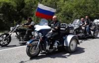 Путин приехал на байк-шоу «Ночных волков» в Крыму на мотоцикле