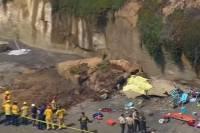 В Калифорнии на пляже обрушилась скала: погибли три человека