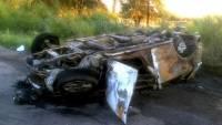 В Крыму неизвестный угнал и разбил служебный автомобиль министра ЖКХ