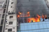 В Челябинске после взрыва загорелась поликлиника