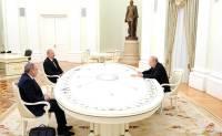 В Кремле состоялись переговоры Путина, Алиева и Пашиняна