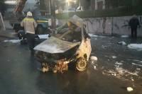 В Новосибирске после ДТП в машине сгорели 3 человека